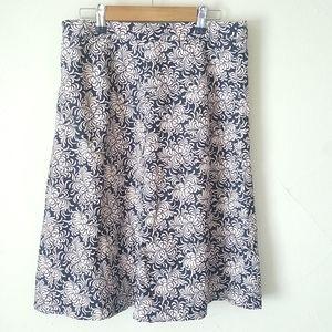 GAP A-line Floral Skirt